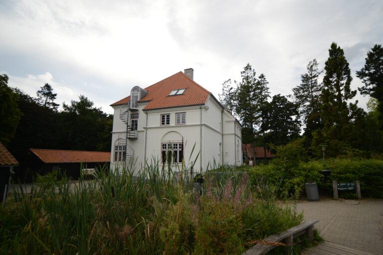 Bygning K fra parken